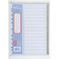 LION A4 PLASTIC DIVIDER WITH NUMBERS 1-31