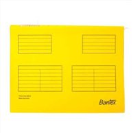 BANTEX SUSPENSION FILE A4 YELLOW (25pcs)