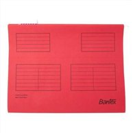 BANTEX SUSPENSION FILE A4 RED (25pcs)