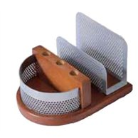 STAND METAL/WOOD FOR CARDS & PAPERCLIPS