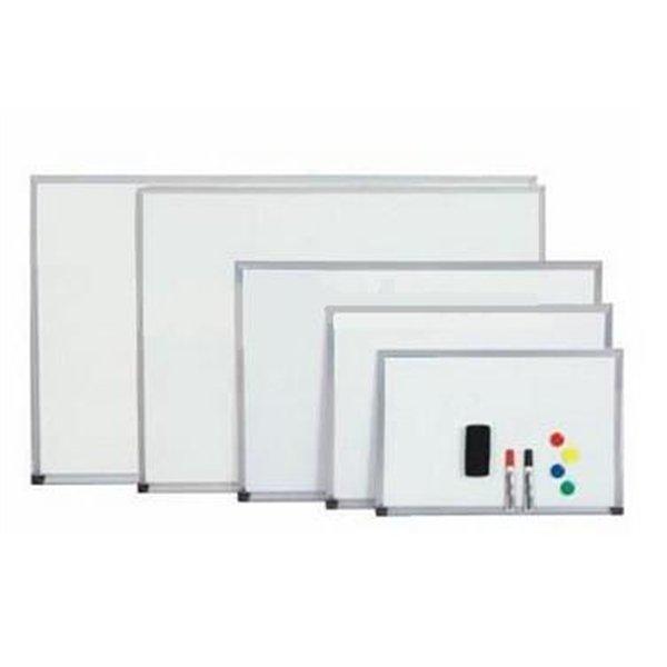 WHITEBOARD ALUMINIUM FRAME 90X120CM - OfficeTeq