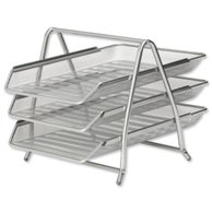 METALIC TRAYS 3 STEP SILVER