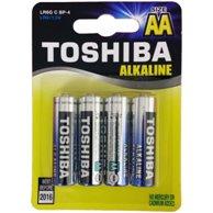 TOSHIBA AA ALKALINE BATTERIES LR06 4pcs