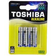TOSHIBA AAA ALKALINE BATTERIES LR03 4pcs