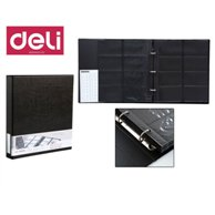 DELI 2RING NAME CARD HOLDER FOR 480 CARDS