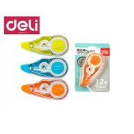DELI CORRECTION TAPE 5MMX12M ASSORTED BBL