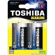 TOSHIBA BATTERIES LR20 (D) ALKALINE 2PCS