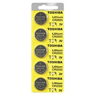 TOSHIBA BATTERIES COINS ALKALINE CR-2025