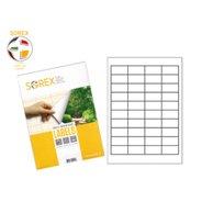 SOREX LABELS A4 4X10 48.5X25.4 100SH WHITE