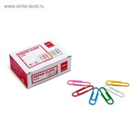 DELI PAPER CLIP COLORED 33MM 100PCS/PACK 39716