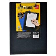 DELI CLIPBOARD BLACK PLASTIC A4 SINGLE