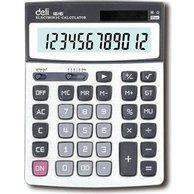 DELI CALCULATOR METAL 12 DIGITS 2WAY POWER 21.6X16X4.1CM