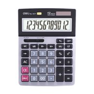 DELI CALCULATOR 12 DIGITS 2WAY POWER 14X18X2CM BK