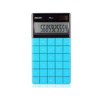 DELI CALCULATOR 12 DIGITS 16.53X10.32X1.47CM BLUE