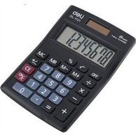 DELI SMALL CALCULATOR BLACK 8DIGITS 12X8.4X2.5CM 2WAY POWER