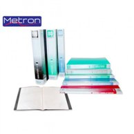 METRON A4 CLEAR BOOK 20 POCKETS BLACK