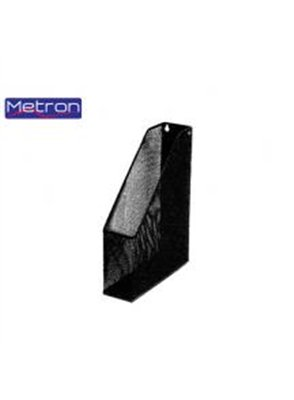 METRON METALLIC BLACK MAGAZINE FILE-CASE 25X31.8X7.5