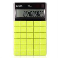 DELI CALCULATOR 12 DIGITS GREEN 16.53X10.32X1.47CM
