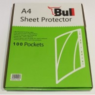 BULL A4 SHEET PROTECTOR BOX OF 100