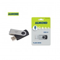 ALMOND FLASH DRIVE USB 8GB TWISTER BLACK