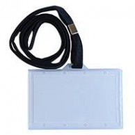 BINDERMAX NAME CARD CASE PLASTIC HARD W/ BLUE RIBBON