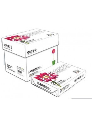 HYBRITE COPY PAPER A4 80GSM AAA QUALITY (BOX OF 5 PACKS)