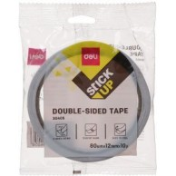 DELI DOUBLE SIDED TAPE CLEAR 12MMX9M