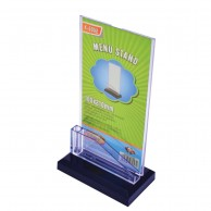 ACRYLIC DISPLAY STAND 1/3 A4 T-SHAPE WITH CARD CASE 105X210MM