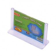 T-SHAPE CARD STAND 74X53MM CLEAR GROOVY