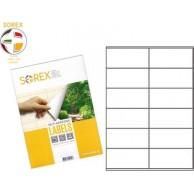 SOREX LABELS A4 2X6 105X48 100SH WHITE