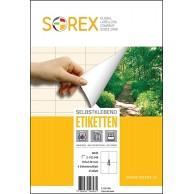 SOREX LABELS A4 2X2 105X148 100SH WHITE