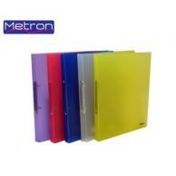 METRON A4 PP 2-RING BINDER 4CM CLEAR
