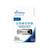 MEDIARANGE 8GB USB BLACK/SILVER MR908