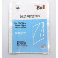 BULL A4 SHEET PROTECTOR PACK OF 100 50MIC