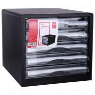 DELI PLASTIC 5-DRAWER CABINET 275X340X260MM BK