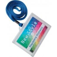 OPUS NAME CARD BADGE PLASTIC 55X90MM + RIBBON ST800BL
