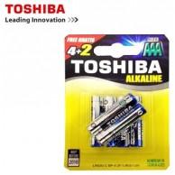 TOSHIBA BATTERIES LR03 (AAA) ALKALINE 6PCS
