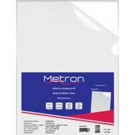 METRON FOLDER L SHAPE CLEAR A4 125MIC 50PCS