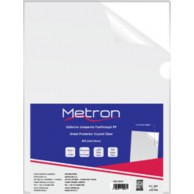 METRON FOLDER L SHAPE CLEAR A4 160MIC 50PCS