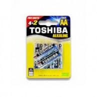 TOSHIBA BATTERIES LR06 (AA) ALKALINE 6PCS