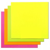 GROOVY STICKY NOTES NEON YELLOW 76X76MM 100SH
