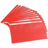 FLAT FILE PLASTIC RED BOX OF 25