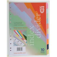 LION PAPER INDEX 10 CLRS TAB