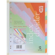 LION PAPER INDEX 12 CLRS TAB