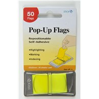 STICK'N POP-UP FLAGS 45X25MM  LEMON