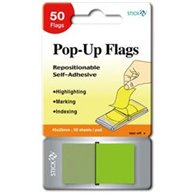 STICK'N POP-UP FLAGS 45X25MM  LIME