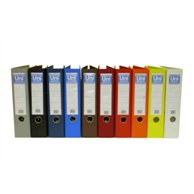 UNI SYSTEM FILE PLASTIC / PAPER A4 8CM RED