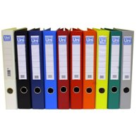 UNI SYSTEM FILE PLASTIC / PAPER A4 4CM RED